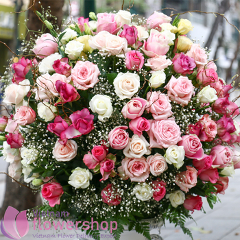 Vietnam luxury flowers for free delivery