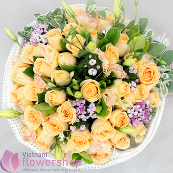 Birthday flowers love in Hochiminh same day delivery