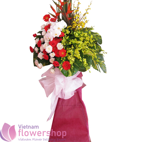 Congratulation flowers for opening in Vietnam