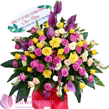 Buy flowers for grand opening to Vietnam free shipping