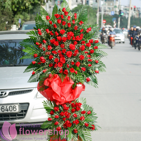 Grand opening flowers to Haiphong city