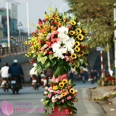 Hanoi congratulation opening flowers stand delivery