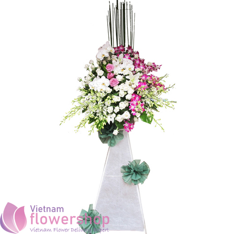 Sympathy flowers delivery online to Vietnam