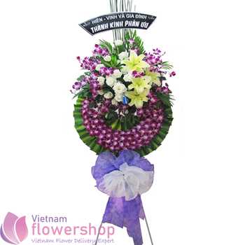 Funeral flowers free delivery to Caugiay District Hanoi