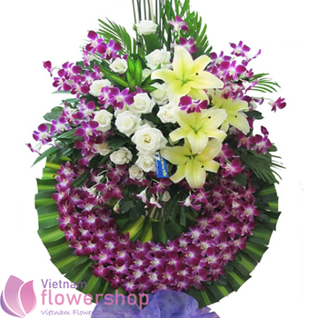 Funeral flowers free delivery to Caugiay District