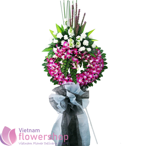 Sympathy flowers next day delivery in Vietnam