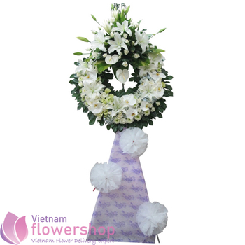 Sympathy flowers delivery same day in Vietnam