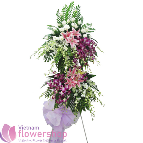 Funeral flowers delivery to Haiphong city