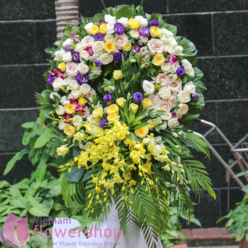 Sympathy flowers for rest in peace