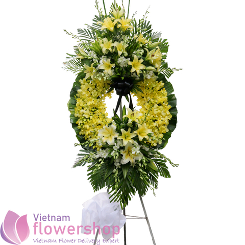 Vietnam flower arrangement for funeral