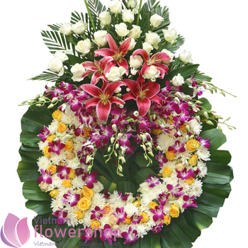 Send sympathy flowers to Vietnam free delivery