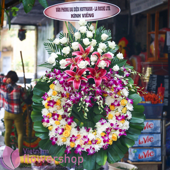 Send sympathy flowers to Vietnam free ship
