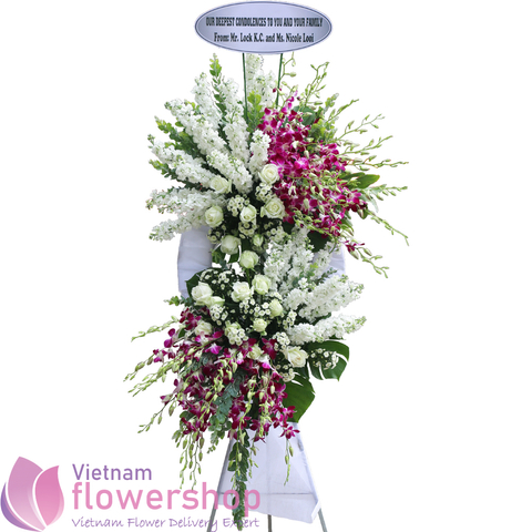 Sympathy flowers message for funeral Vietnam