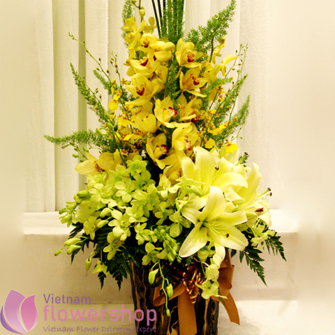 Vip flowers free delivery to Vietnam