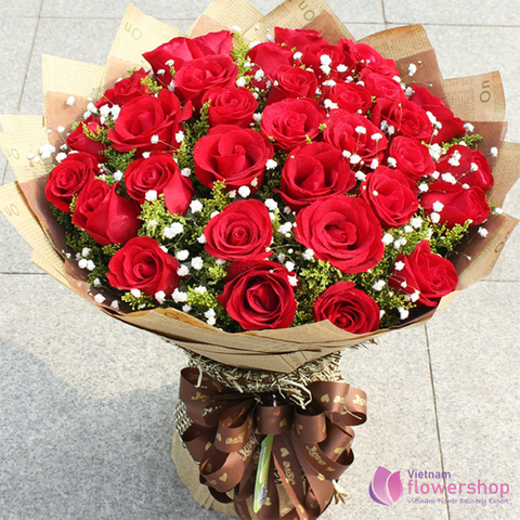Love flowers for sending to Nha Trang city