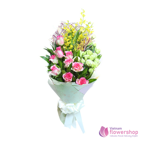 Vietnam love flowers bouquet for wife
