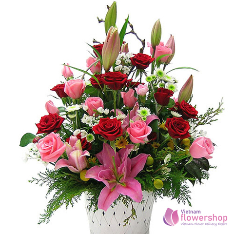 Send love flowers to Ba Dinh District