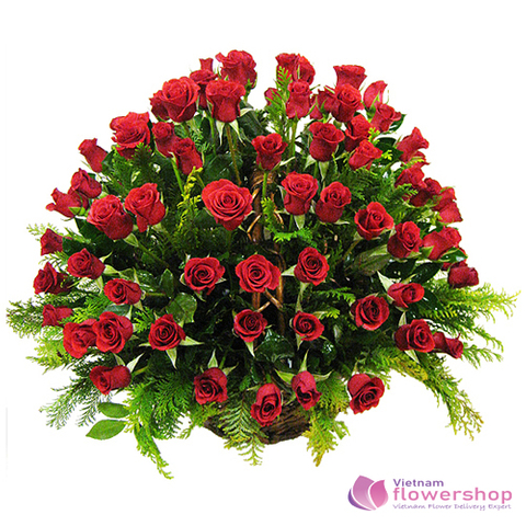 Send 99 red roses to Vietnam