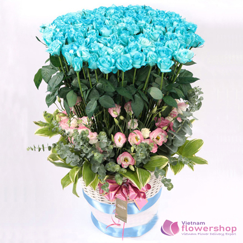 99 blue roses delivery vietnam