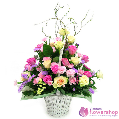 Lovely flower arrangement delivery Vietnam