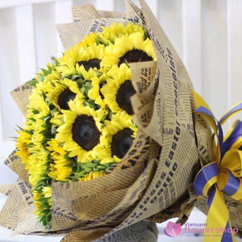 Cheerfully sunflowers delivery in Vietnam