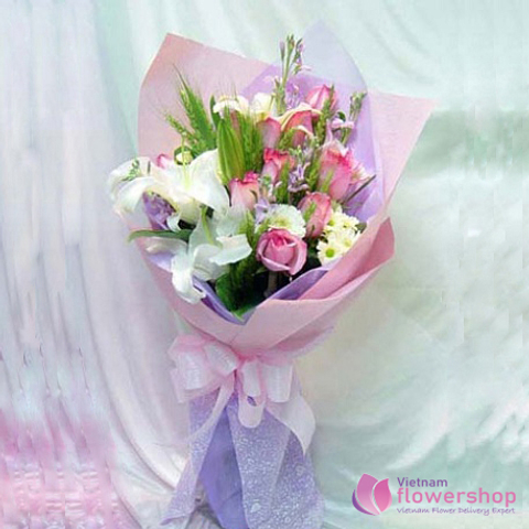 Mixed Flower bouquet delivery Hochiminh city