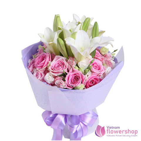 Bouquet pink and white flower beautiful
