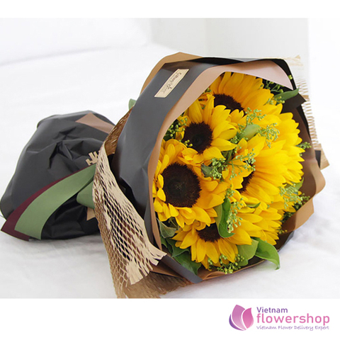 Sunflowers beautiful delivery to girlfriend