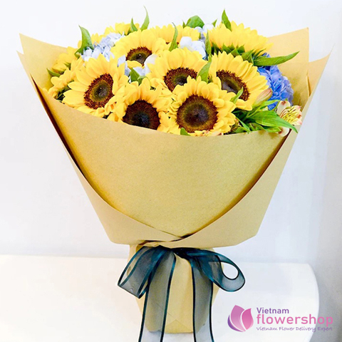 Sunflower delivery Hai Ba Trung District Hanoi