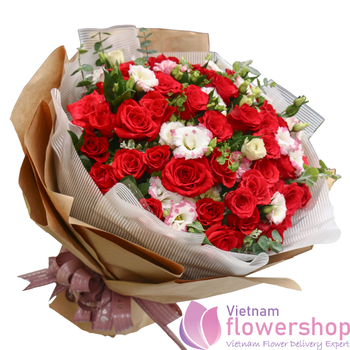 Hanoi love flowers same day delivery free ship