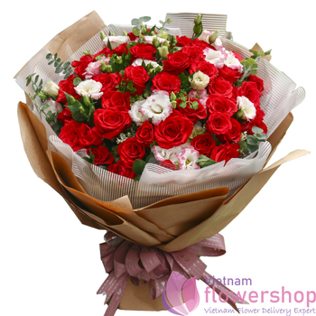 Hanoi love flowers same day delivery Vietnam