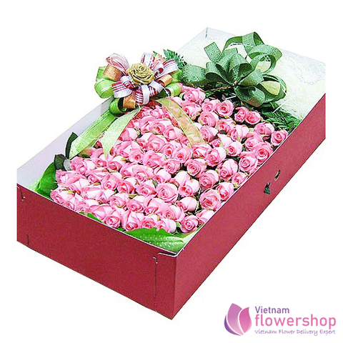 Vietnam Box of 99 pink roses beautiful