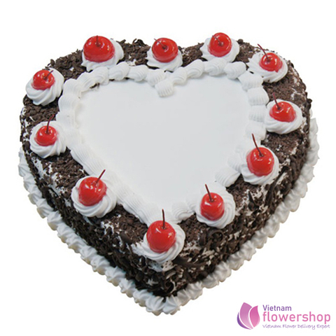 Heart shaped birthday cake in Vietnam