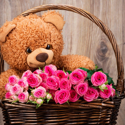 Combo Bears And Pink Roses in Vietnamflowershop