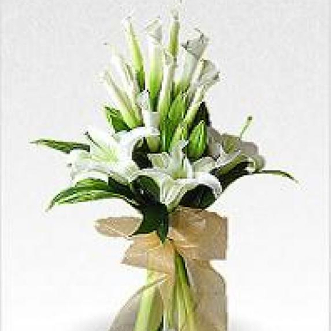 Wedding bouquet white lilies