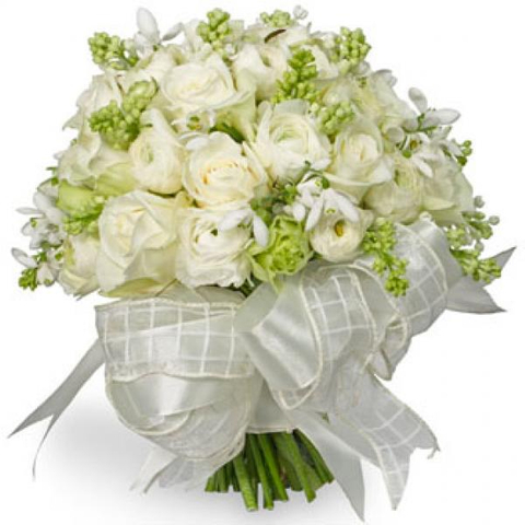 White Flowers Wedding Bouquet