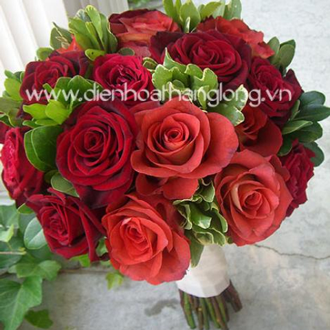 WEDDING BOUQUETS RED ROSES