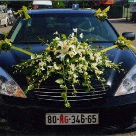 XH001-Wedding Flower Car