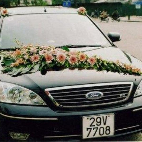 XH004-Wedding Flower Car