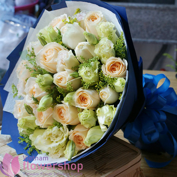 Birthday roses bouquet at Vietnam Florist online