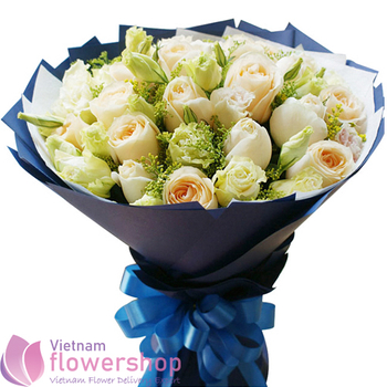 Birthday rose bouquet at Vietnam Florist
