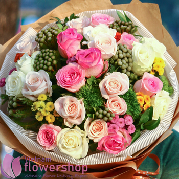Beautiful bouquet for birthday to Vietnam