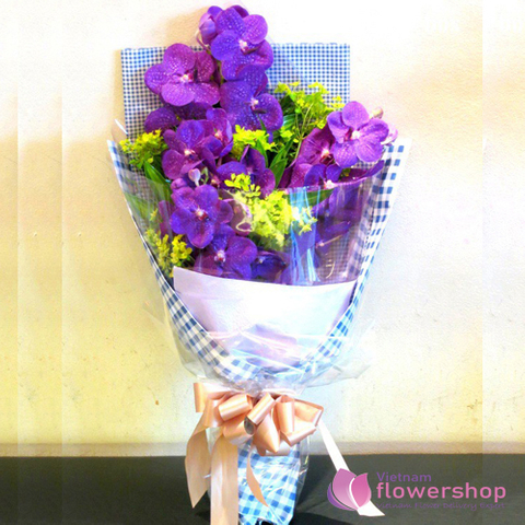 Purple orchids for female boss