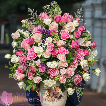 Send birthday flowers to Vietnam free delivery