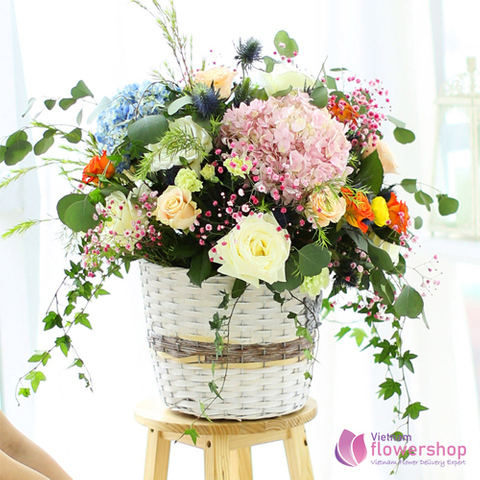 Flowers arrangement for birthday in Haiphong