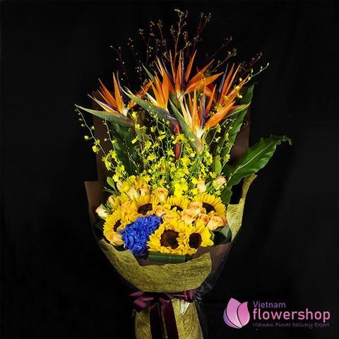 Vietnam Flowers bouquet for birthday father