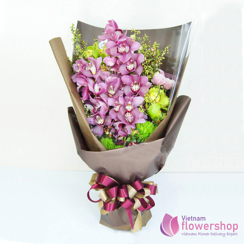 Vietnam Purple orchid flower bouquet beautiful