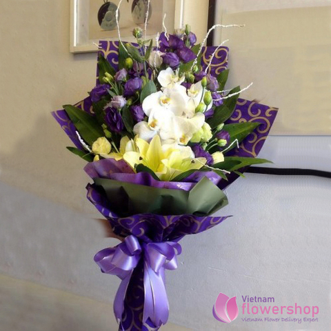 Order orchid bouquet in vietnam flower online