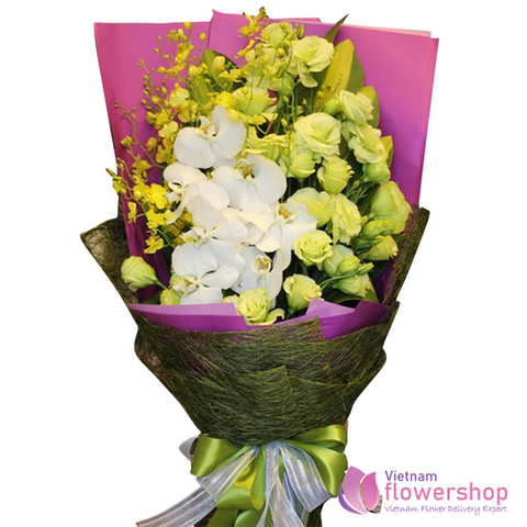 Send love to Vietnam with orchid bouquet