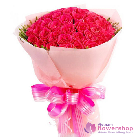 Vietnam Pink roses bouquet for my love